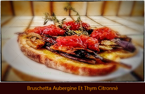 Bruschetta Aubergine Et Thym Citronnéthb