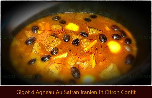 Gigot d'Agneau Au Safran Iranien Et Citron Confitthb