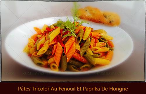 Pâtes Tricolor Au Fenouil Et Paprika De Hongriethb