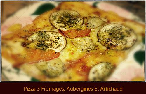 Pizza 3 Fromages, Aubergines Et Artichaudthb