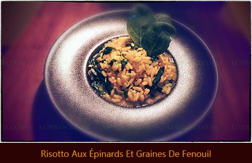 Risotto Aux Épinards Et Graines De Fenouilthb