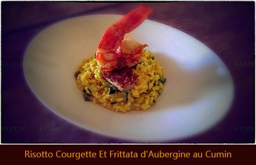 Risotto Courgette Fritata d'Aubergine au Cuminthb