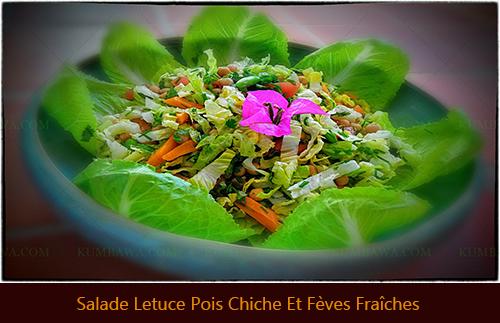 Salade Letucce Pois Chiche Et Fèvethb