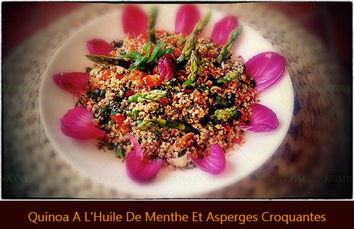 Quinoa a l'huile de menthe et asperges croquantesthb