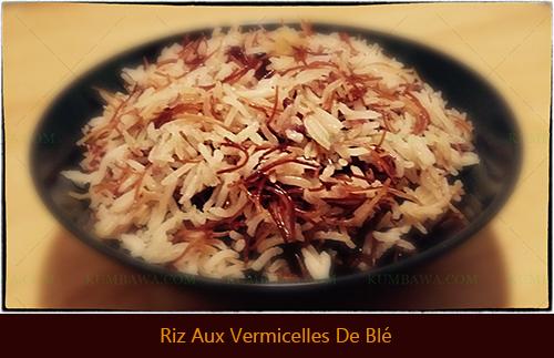 Riz Aux Vermicelles De Bléthb