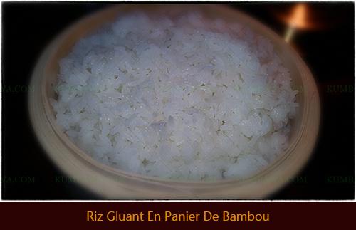 Riz Gluant En Panier De Bambouthb