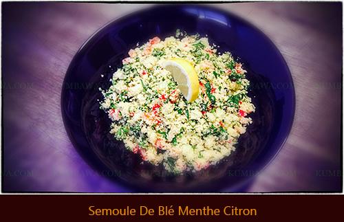 Semoule De Blé Menthe Citronthb