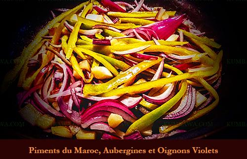Piment Du Maroc, Aubergine Et Oignon Violet