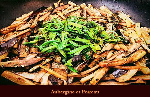 Aubergine Et Poireau