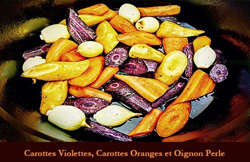 Carotte Violette, Carotte Orange Et Oignon Perle