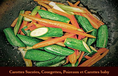 Carotte Sucrée, Courgette, Poireau Et Carotte Baby